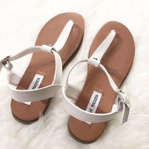 NEW Steve Madden Chaya White Leather Sandal Size 8